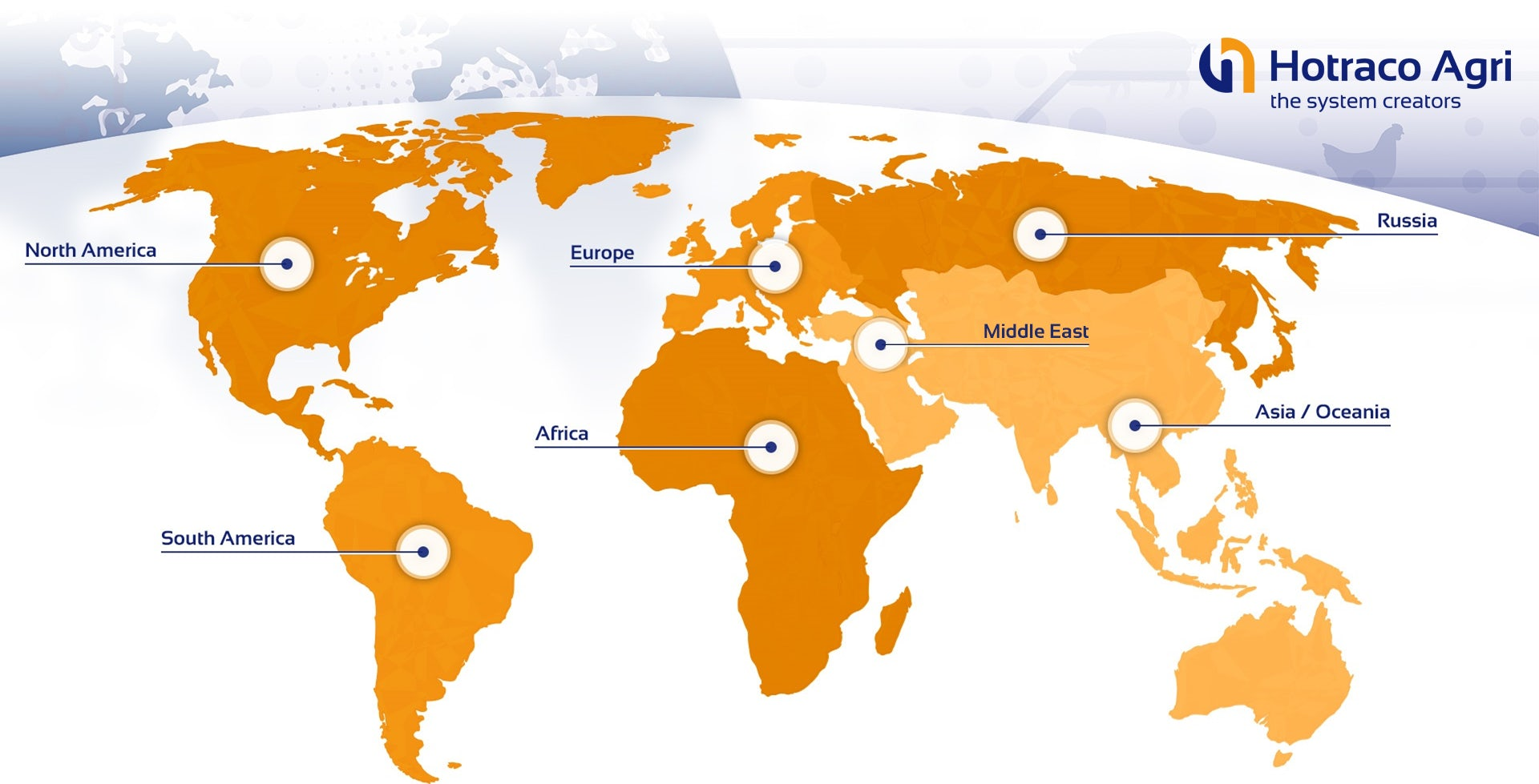 World Map Projects Hotraco poultry