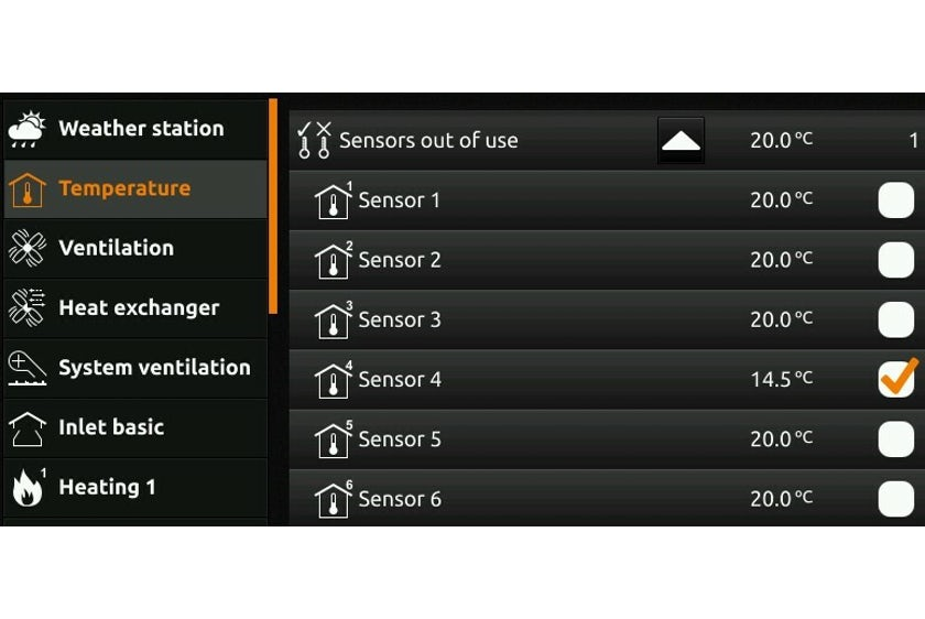 Temp sensors our of use