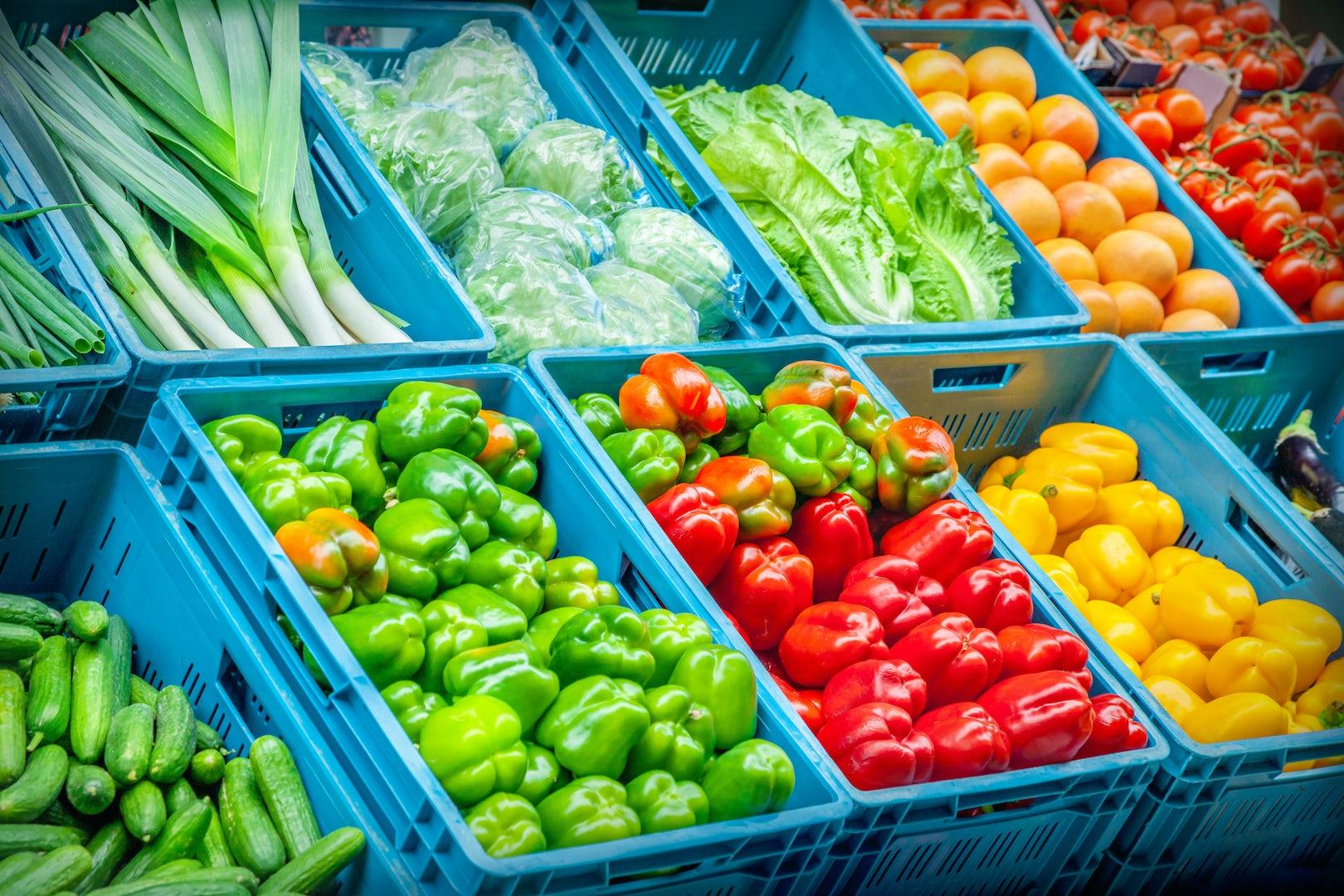 Vegetables Assorti Blue crates