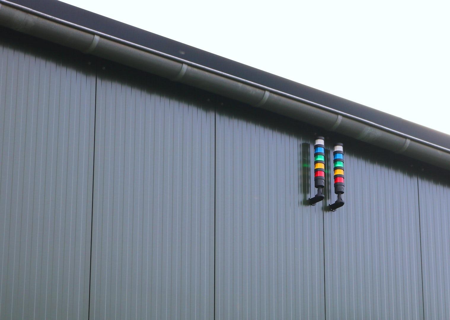 Alarm pole outside