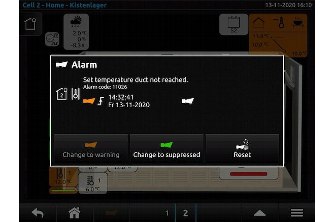 Duct temperature not reached hvdo 201113